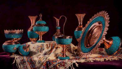 تصویر معرفی و خرید ۴۰ نمونه ظروف فیروزه کوبی زیبا و باکیفیت+ قیمت روزانه