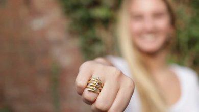 تصویر ۲۳ مدل انگشتر طلای زیبا برای هدیه دادن به خانمها با قیمت روز و خرید اینترنتی