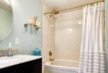 تصویر راهنمای خرید ۲۵ مدل پرده حمام باکیفیت و پرفروش+ قیمت روز
