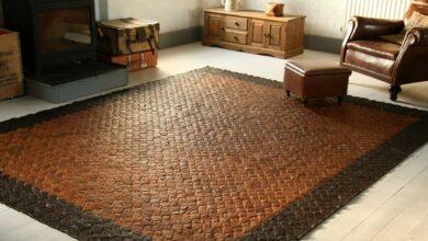 تصویر راهنمای خرید انواع فرش چرم و پوست (کلاژ) + قیمت روز