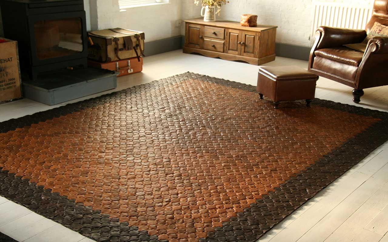 راهنمای خرید انواع فرش چرم و پوست طبیعی و مصنوعی(کلاژ) + قیمت روز